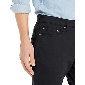 Essentials Men's Slim-Fit Stretch Bootcut Jean, Black, 32W x 33L