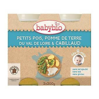 Small Pots Menu Vegetables & Cod (from 8 months) 2 units of 200g