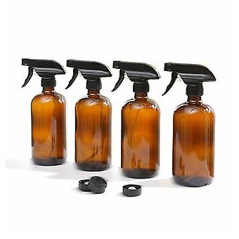 4X 500Ml Amber Glass Spray Flessen Trigger Water Sprayer Aromatherapie