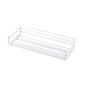 Hole Free Wall Mounted Storage Rack White 26.5x10.5x5cm