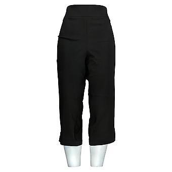 Joan Rivers Femmes-apos;s Pantalon Petite Pull-On Cropped Noir A301920