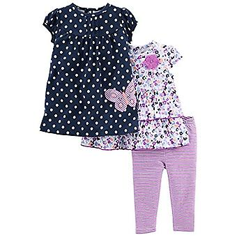Simple Joys by Carter's Baby Girls' 3-Piece Playwear Set, Navy/Purple, 24 Mon...
