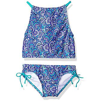Kanu Surf Girls' Big Daisy Beach Sport Halter Tankini 2-Piece Swimsuit, Sunda...