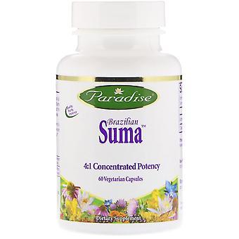 Paradise Herbs, Suma brésilienne, 60 capsules végétariennes
