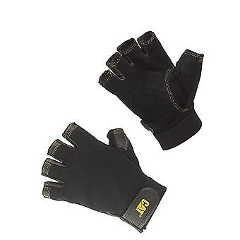 Caterpillar 12202 Reversed Half Finger Pig Skin Gloves / Mens Gloves / Gloves