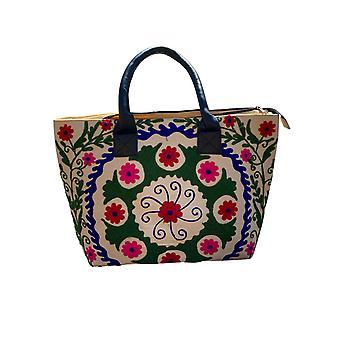 כותנה בד דפוס פרחוני ארנקים צבעוני תיקי־יד - דני פרסית