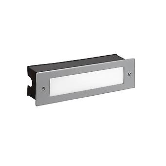 Outdoor LED Recessed Wall Light Grey 29.8cm 1215lm 4000K IP65