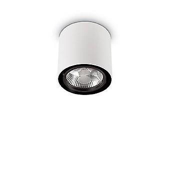 1 superficie rotonda leggera grande montato downlight bianco, GU10