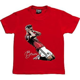 Bruno Fernandes Celebration Red Kids' T-Shirt