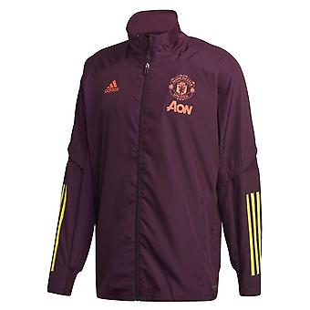 2020-2021 Man Utd EU Presentation Jacket (Burgundia)