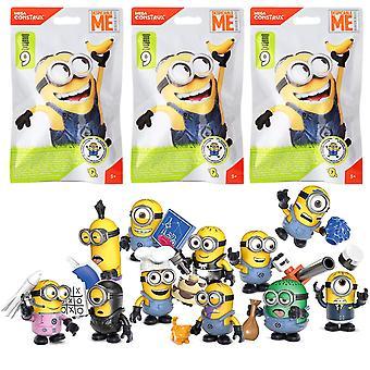 3-Pack Mega Construx Minions Stupid Me figure Blind Bag S9