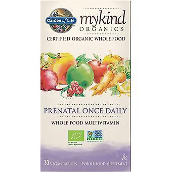 Jardín de la vida Mykind orgánicos prenatal una vez diariamente gorras 30 1232