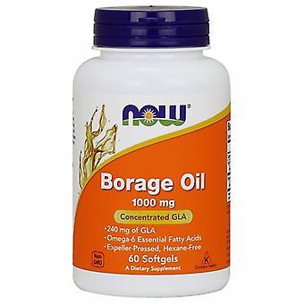 Теперь продукты Borage масло, 1000 мг, 60 Softgels