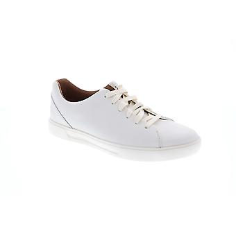 Clarks Un Costa Lace  Mens White Leather Lifestyle Sneakers Shoes