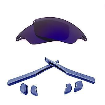 Polarized Replacement Lenses Kit for Oakley Fast Jacket Purple Mirror Navy Blue Anti-Scratch Anti-Glare UV400 SeekOptics