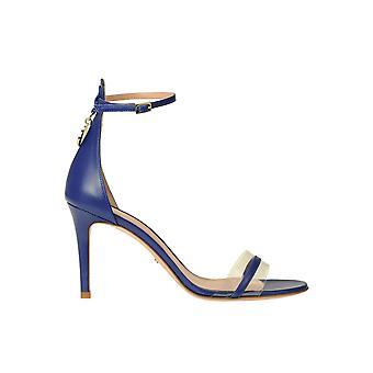 Elisabetta Franchi Ezgl026248 Naiset's Sininen Nahka Sandaalit