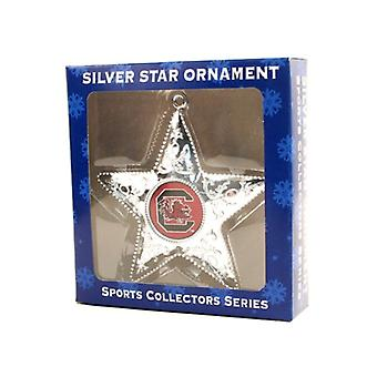 South Carolina Gamecocks NCAA Sports Collectors Series Silver Star Ornament