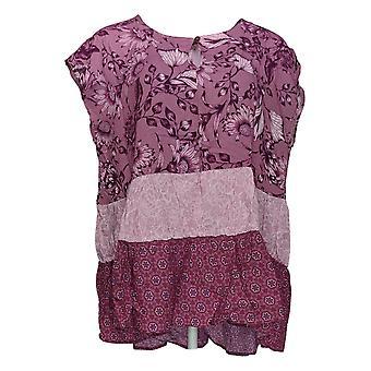 DG2 par Diane Gilman Women-apos;s Top Mauve Pink Basic Blouse Rayon 702-628