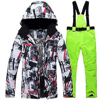 Winter Ski Suit, Outdoor Sports Snow Jackets And Pants Equipment