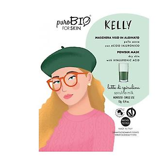 Kelly peel off face mask - dry skin - spirulina milk - 09 13 g of powder