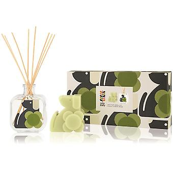 Orla Kiely Dog Moulded Candle & Diffuseur Set