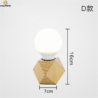 Nordic Wood, Modern, Living Room Bedroom Bedside Lamps