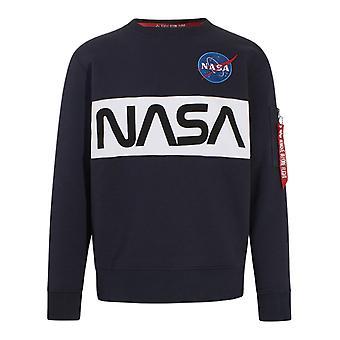 Alpha Industries 17830807 Heren's Blue Cotton Sweatshirt