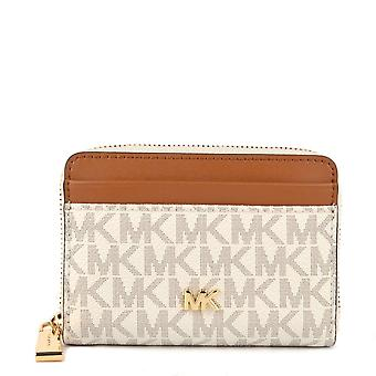 MICHAEL Michael Kors Mk Small Logo And Leather Wallet Vanilla/acorn