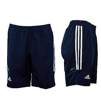 Adidas Woven 3 Stripe Team Climate Navy Womens Elasticated Shorts X13205 A41C