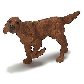 Dolls House Irlantilainen setteri seisoo jalka ylös miniatyyri lemmikkikoira 1:12 Asteikko