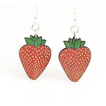 Jordbær øreringe