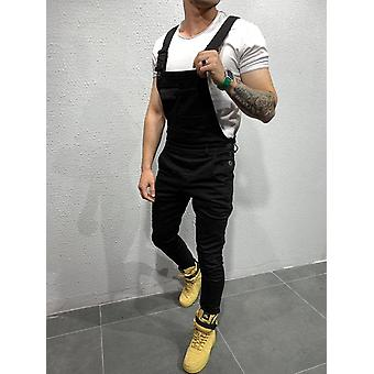 Men's Suspenders, Personalized Multi Button Fit Jogger Casual Jumpsuit