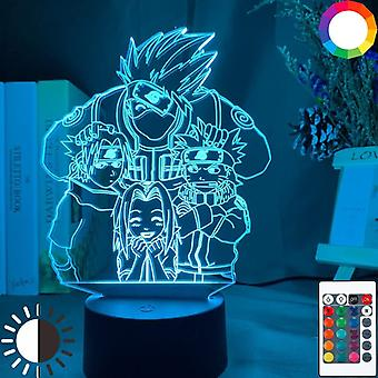Anime Naruto Uzumaki Pattern-3d Led Night Light Bedroom