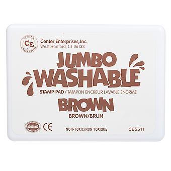 Jumbo Washable Stamp Pad, Brown