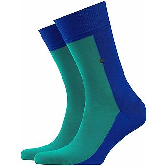 Chaussettes Burlington Joker - Deep Blue/Green