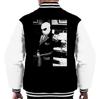 The Invisible Man Pointing Off Screen Men's Varsity Jacket