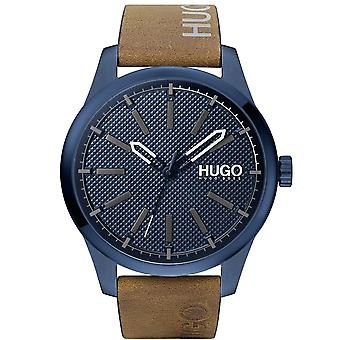 HUGO 1530145 Invent Blue And Brown Leather Men's Watch