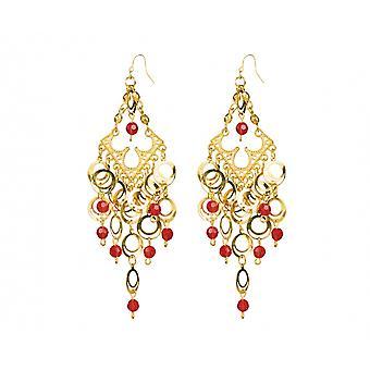 Earrings Gypsy The Luxury Ladies Gold / Red