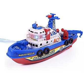 Simulation Electric Model Fireboat With Music Lights Water Electric Boat Model