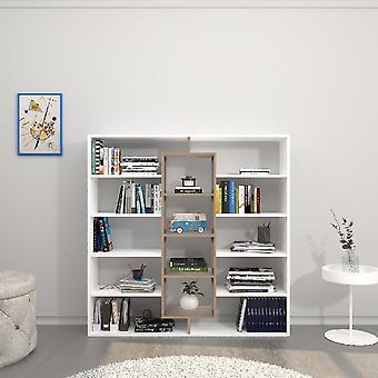 Dalia White Library, Sonoma in Melamine Spaanplaat, L130xP27xA130 cm