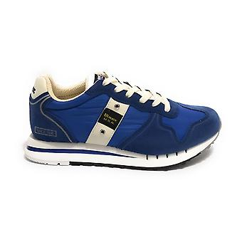 Shoes Blauer Sneaker Running Quartz Suede/ Royal Men's Blue Fabric Us21bu05