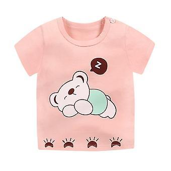 Summer Baby T-shirt Short Sleeve Human Printed Cotton Casual Tops T-shirts