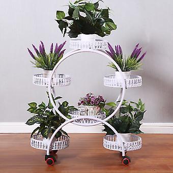 حامل زهرة عجلة النبات العالمي لشرفة الحديقة الداخلية