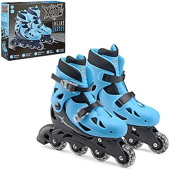 Xootz Kids Inline Skates, Adjustable Beginner Roller Blade Boots Small UK Size 9-12