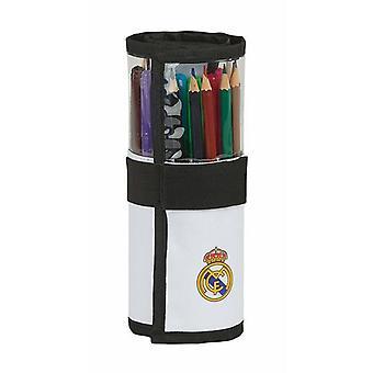 Pencil Case Real Madrid C.F. 20/21 Roll-up Wit Zwart (27 Stuks)
