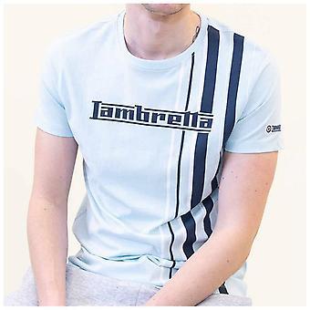 Lambretta Multi Stripe T-Shirt - Cool Blue