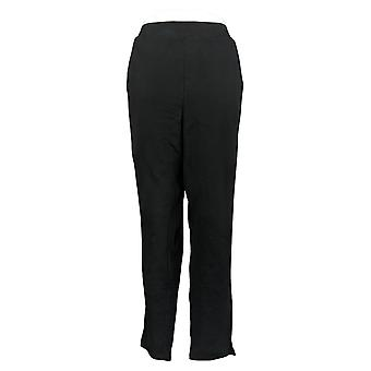 LOGO Lounge By Lori Goldstein Women's Petite Pull-On Pant Black A389207