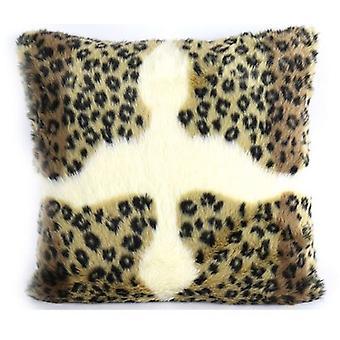 pillow animal 45 x 45 cm textile cognac