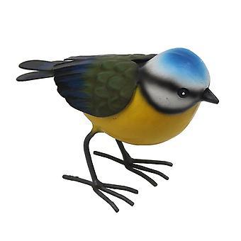 Primus suuri metallinen sininen Tit Garden lintu koriste