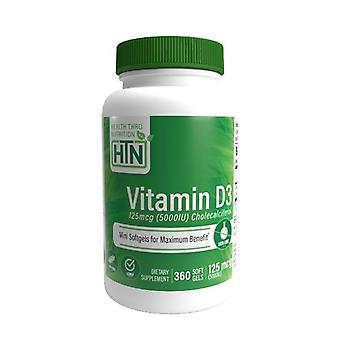 Vitamin D3 5,000Iu 125mcg 360 Capsules